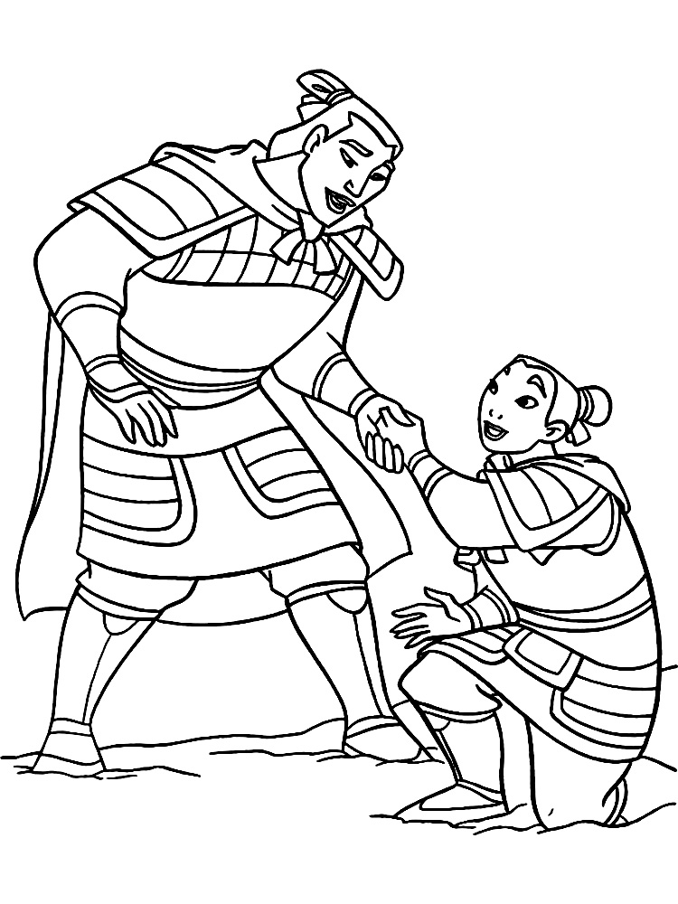 Mulan coloring pages to download