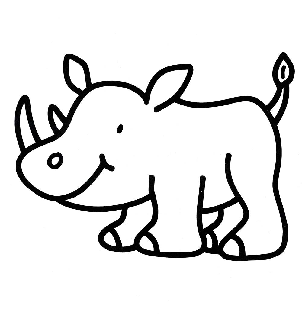 Rhinoceros Coloring Pages to download and print for free