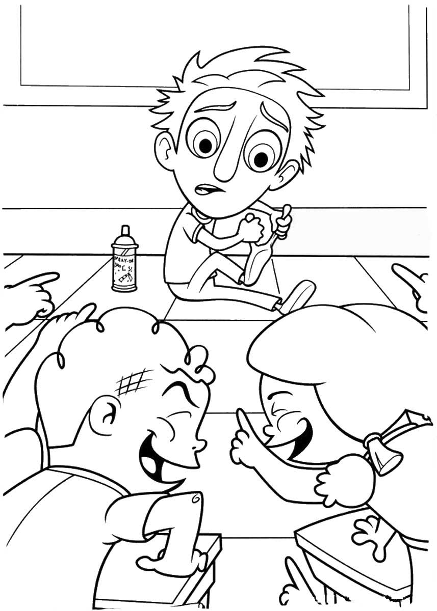 Cat Noir Kleurplaat Cloudy With A Chance Of Meatballs Coloring Pages To