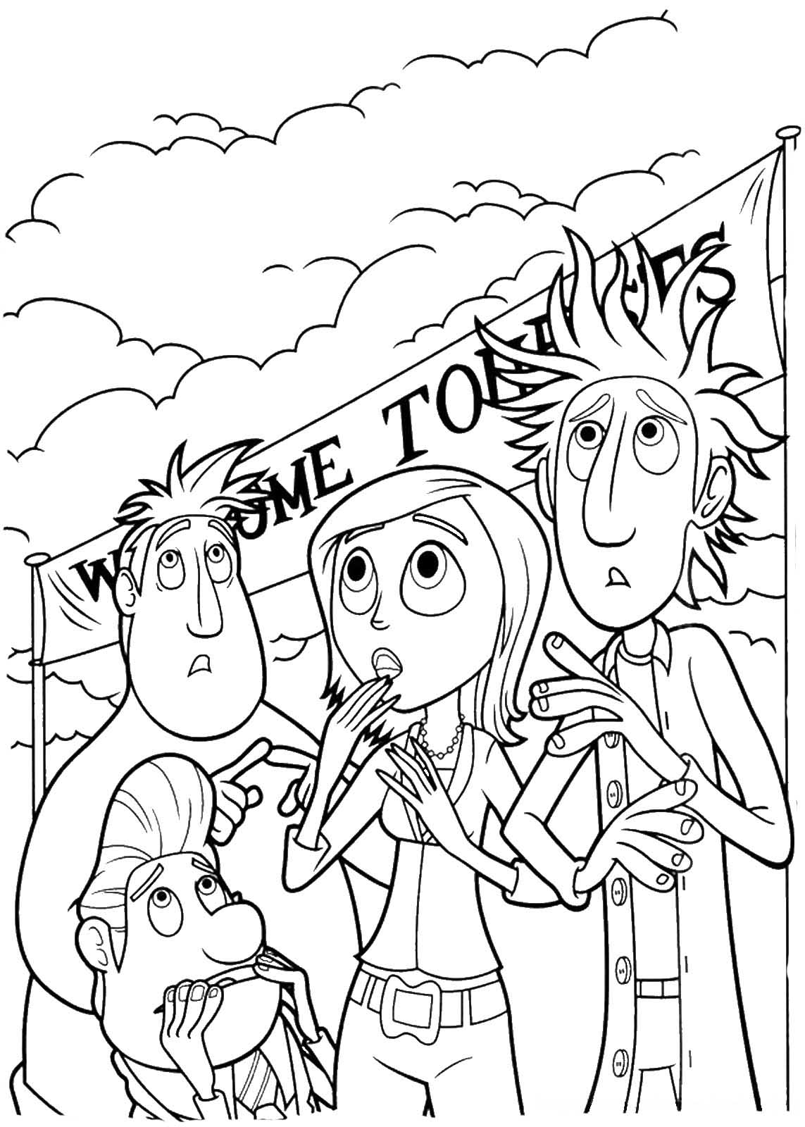 Cloudy with a Chance of Meatballs coloring pages to download and ...