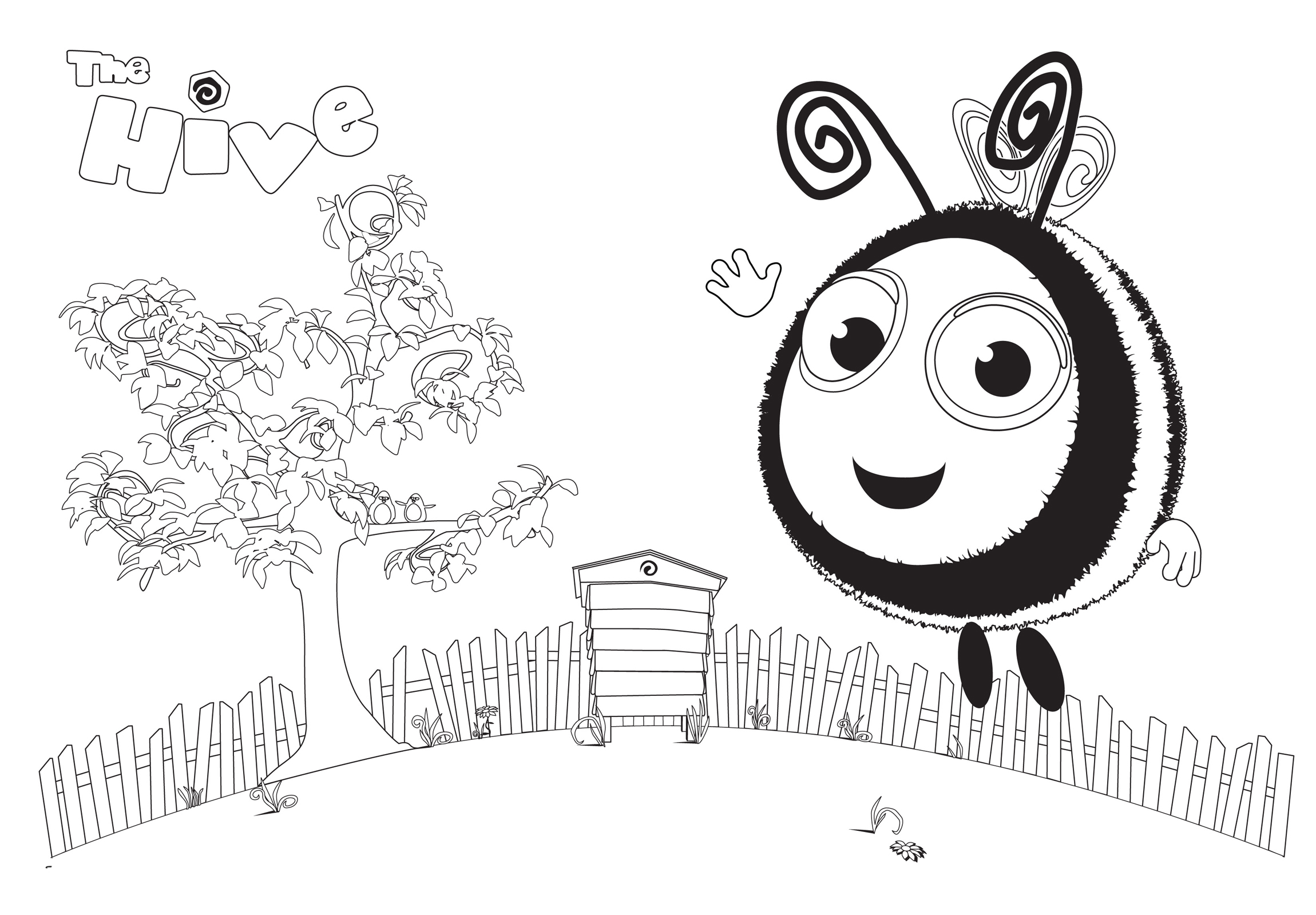 The Hive coloring pages to download and print for free