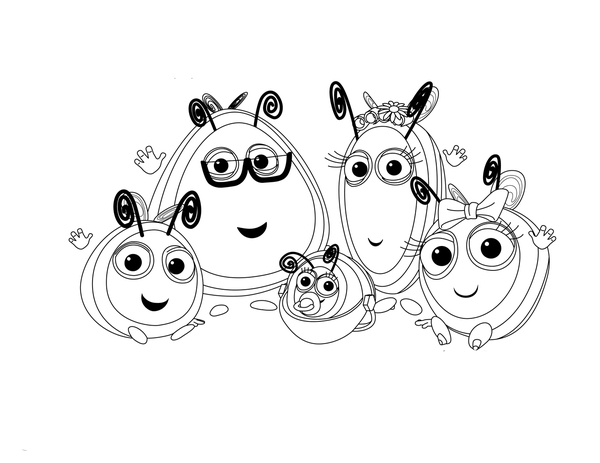 The Hive coloring pages to download