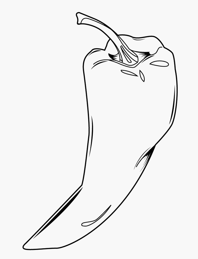Pepper Coloring Pages To Download And Print For Free