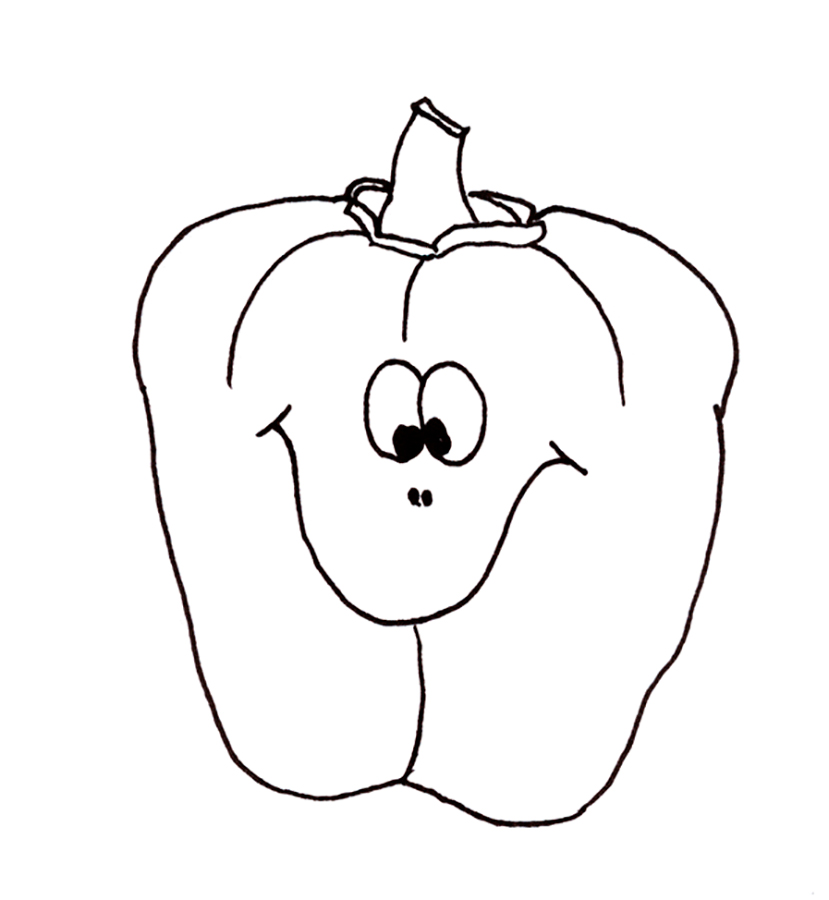 Pepper coloring pages to download