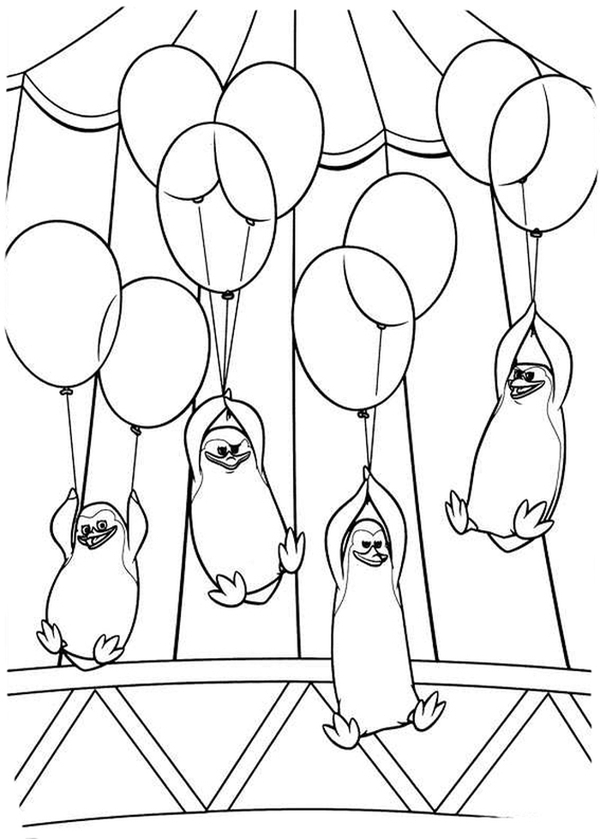The Penguins Of Madagascar Coloring Pages To Download And