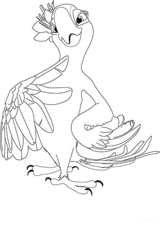Rio 2 coloring pages to download