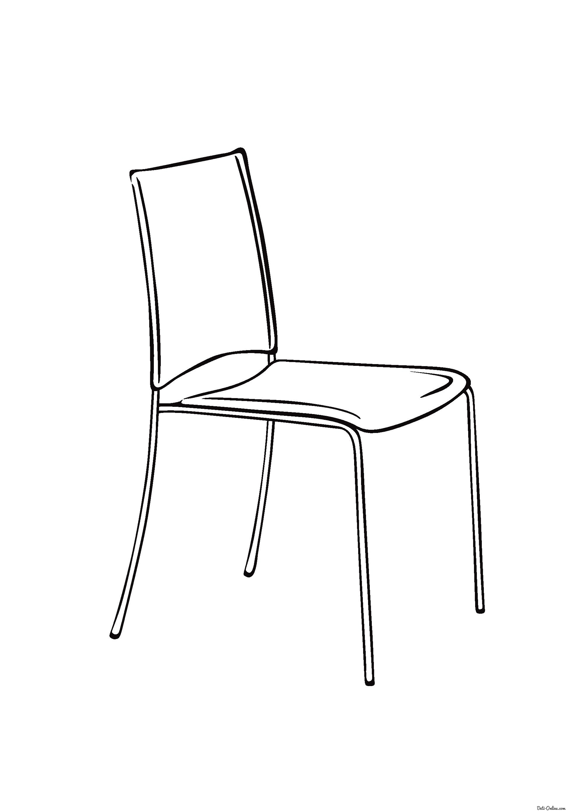 free coloring pages furniture - photo#12