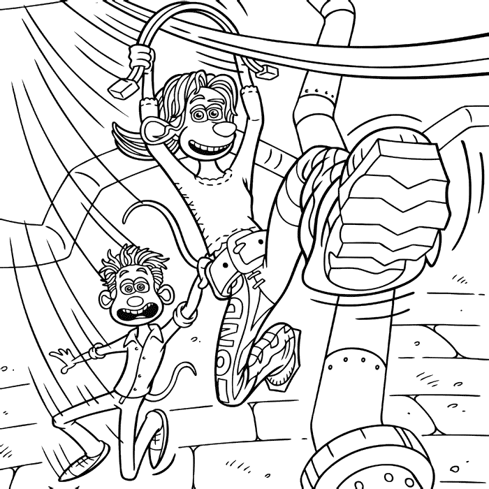 flushed away coloring pages - photo#23