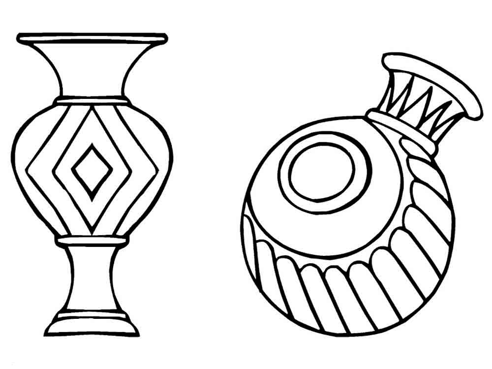 Coloring: Vase Coloring Pages To Download And Print For Free