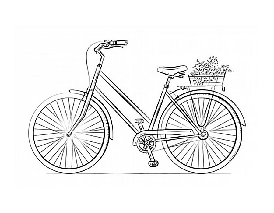 Bicycle coloring pages to download