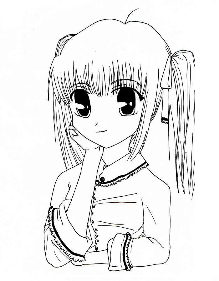 Anime coloring pages to download
