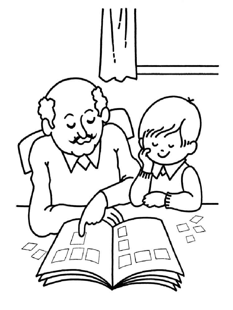 grandfather coloring pages to download and print for free