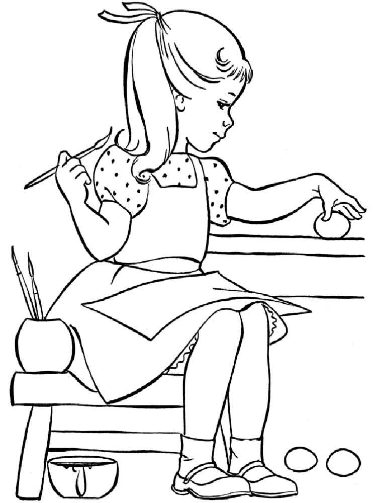 Girl coloring pages to download