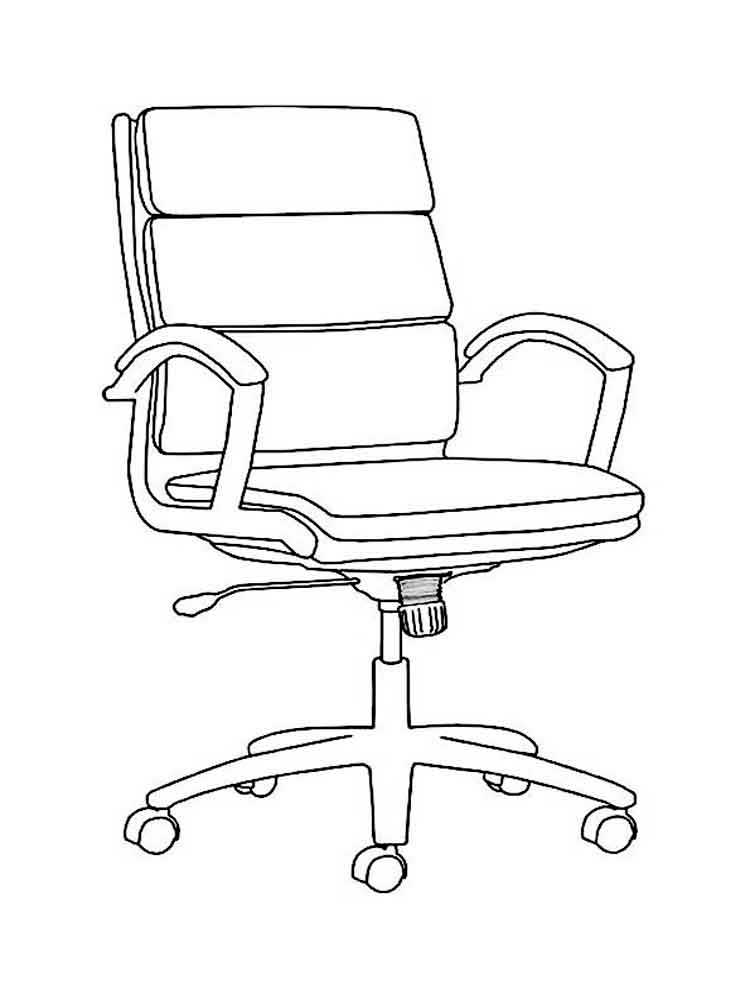 Armchair coloring pages to download