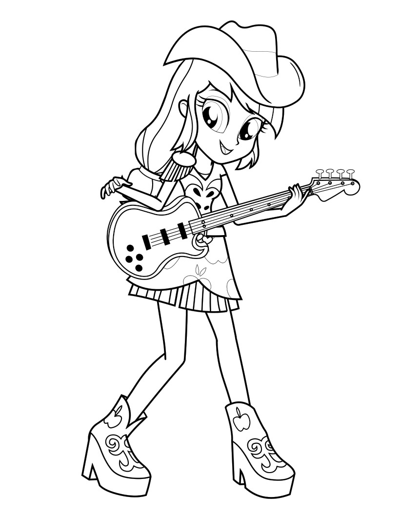 Equestria Girls coloring pages to download and print for free