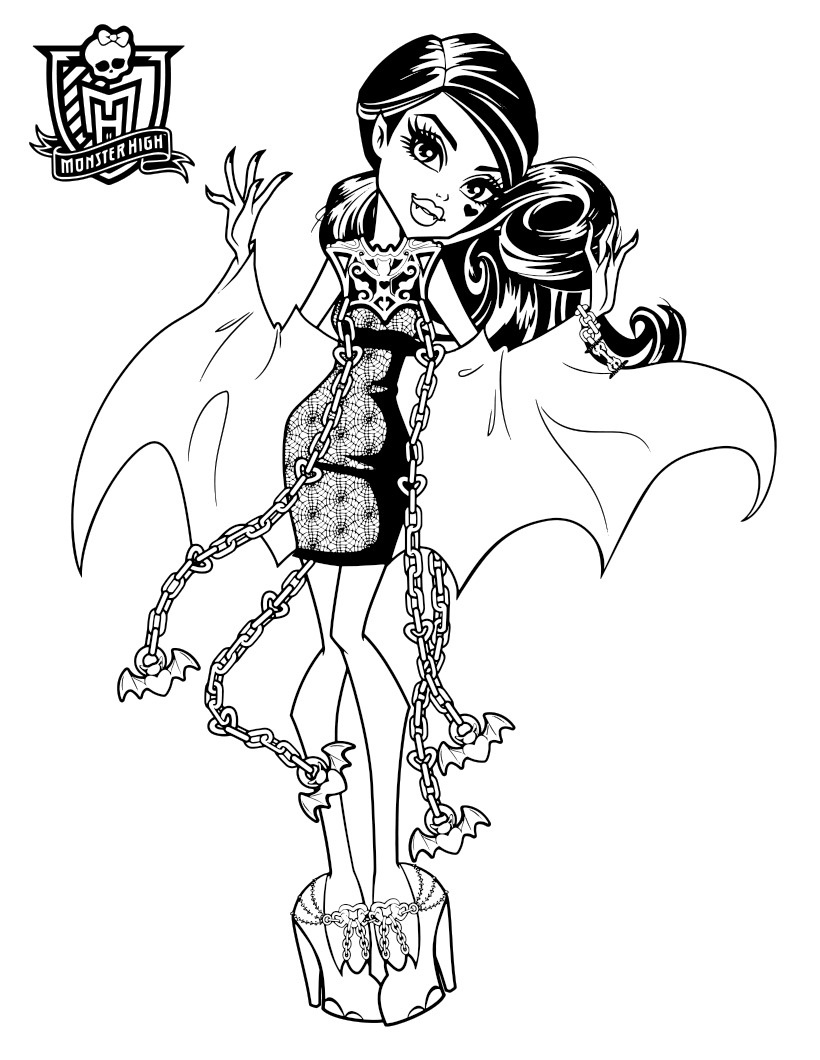 Monster High Haunted Coloring Pages to download and print for free