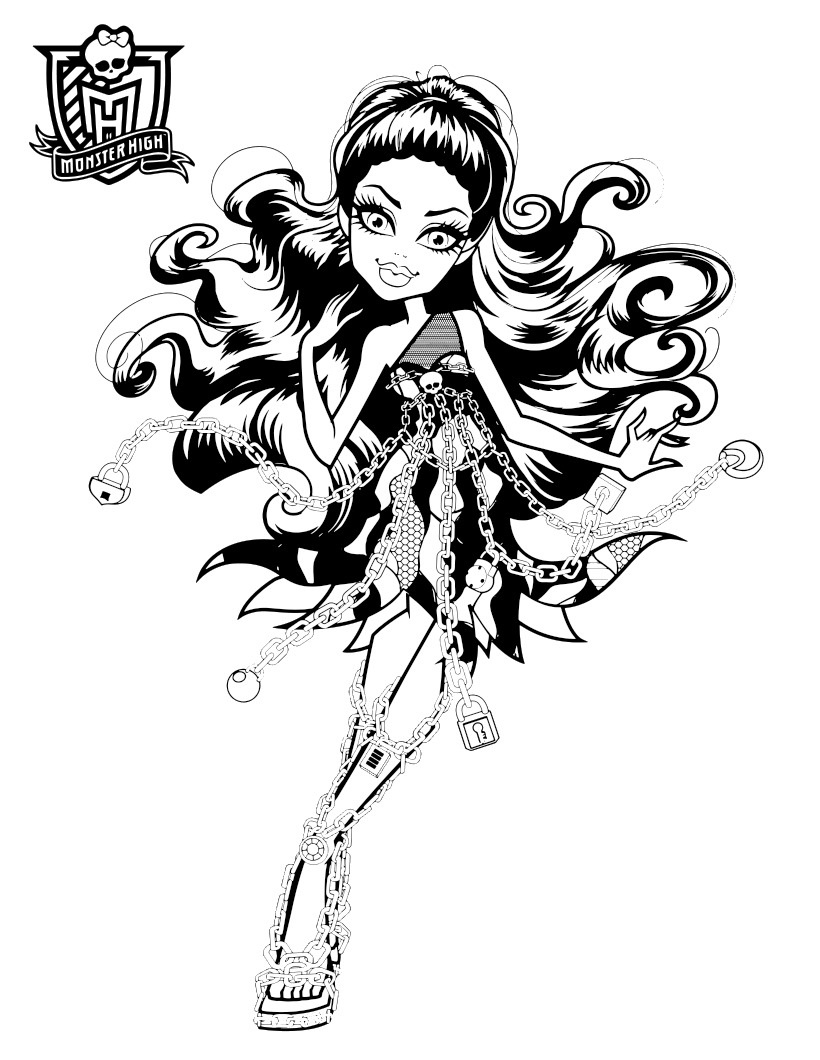monster high haunted coloring pages to download and print