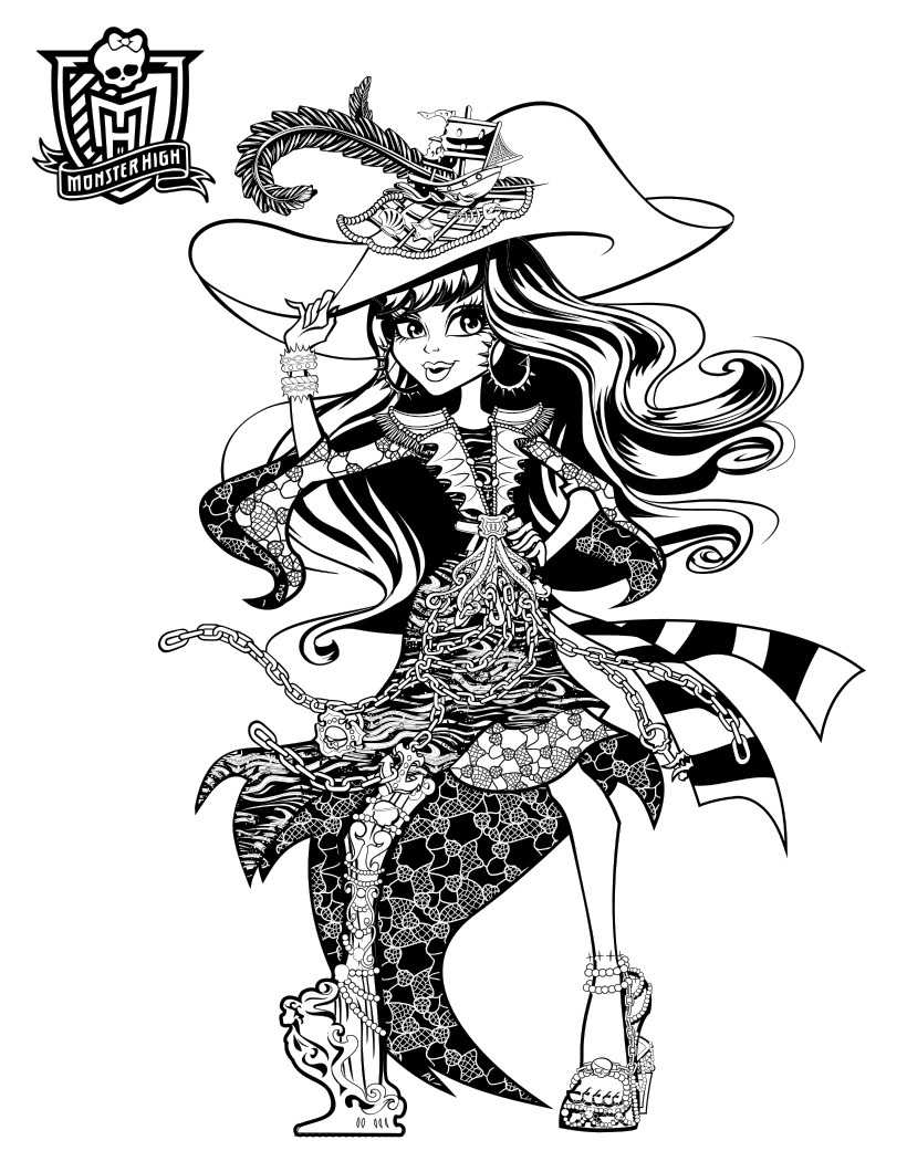 Monster High Haunted Coloring Pages