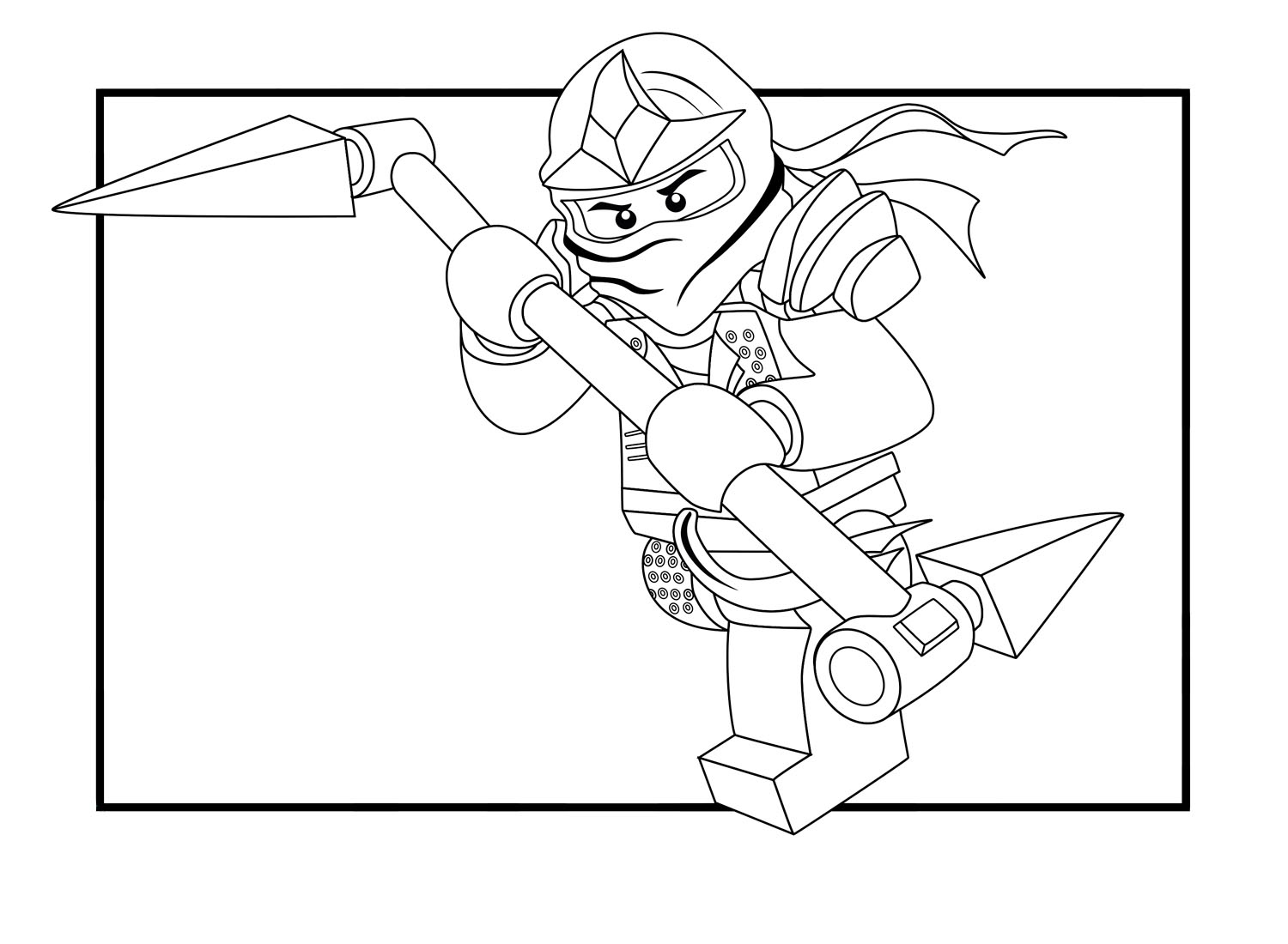 Lego Ninjago coloring pages to