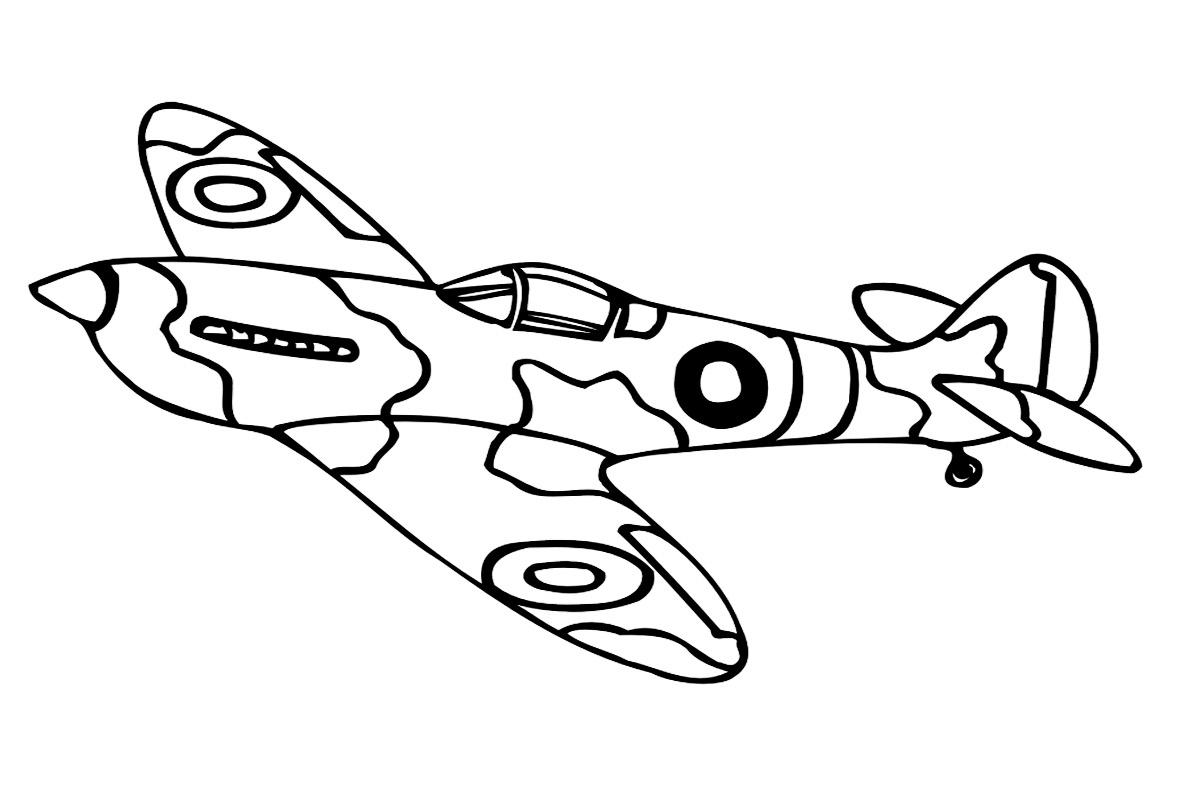 Военный самолёт раскраска для детей