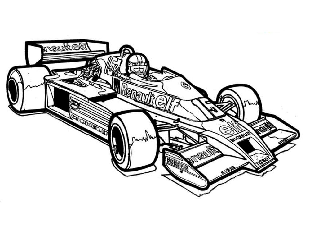 car racing free coloring pages - photo#19