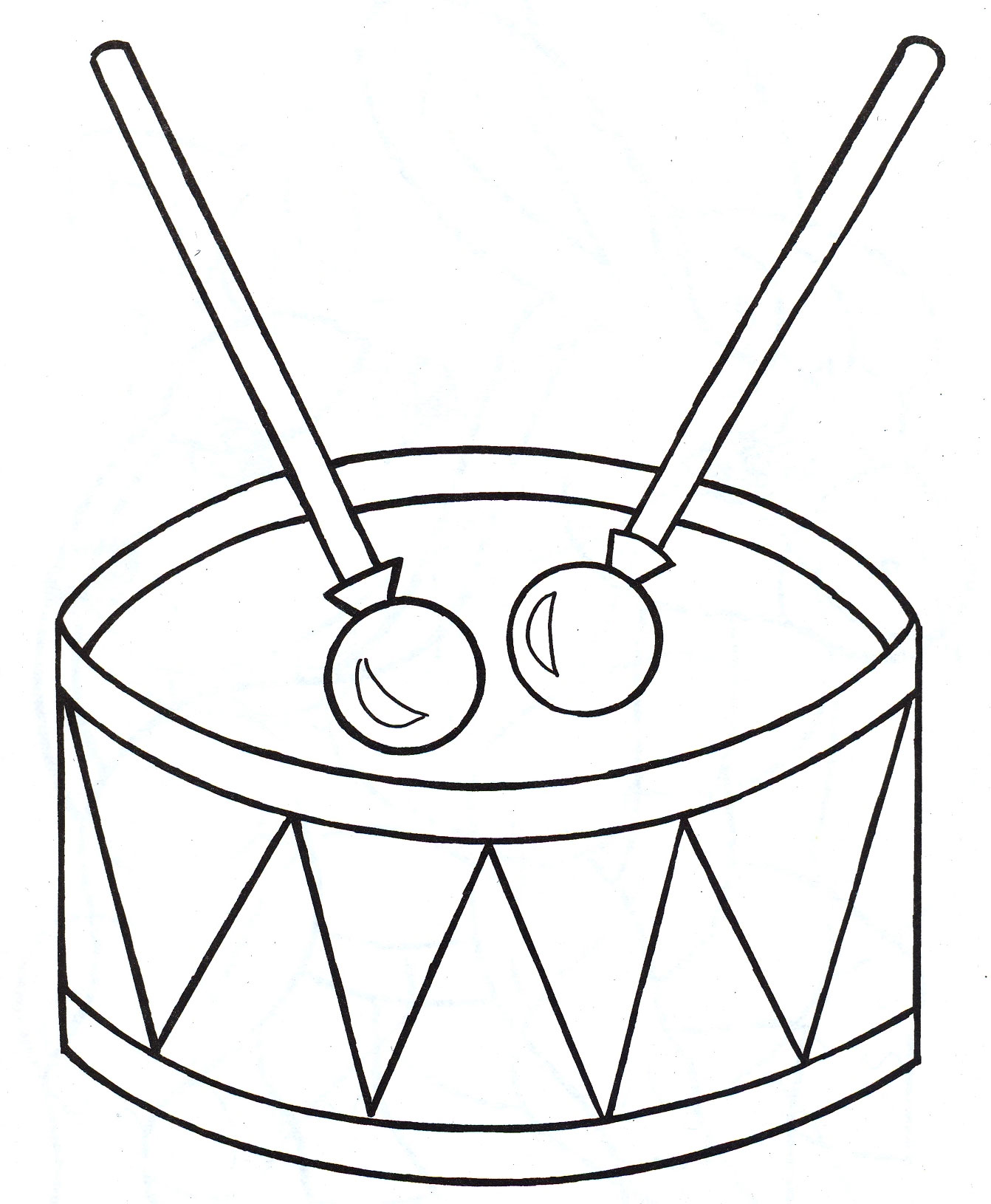 coloring pages drum - photo#13