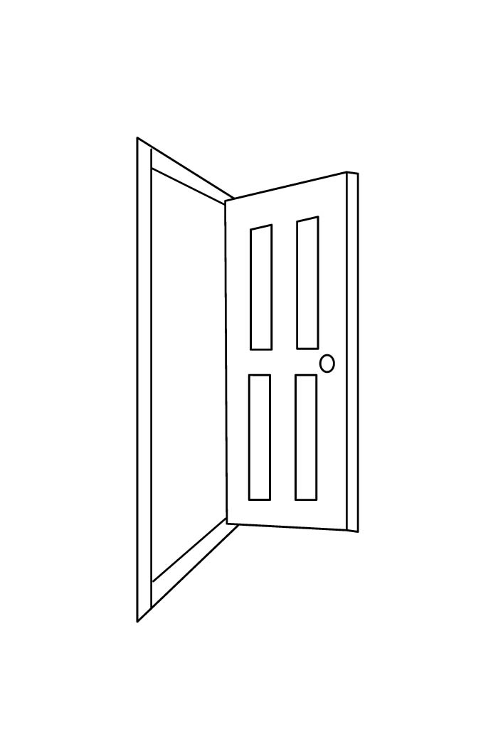 Door Coloring Pages To Download And Print For Free