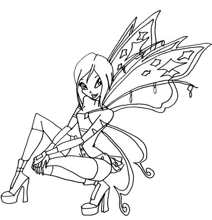 Winx Believix coloring pages to