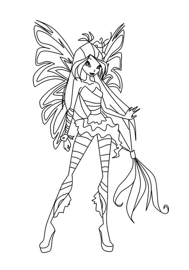 Winx Harmonix coloring pages to