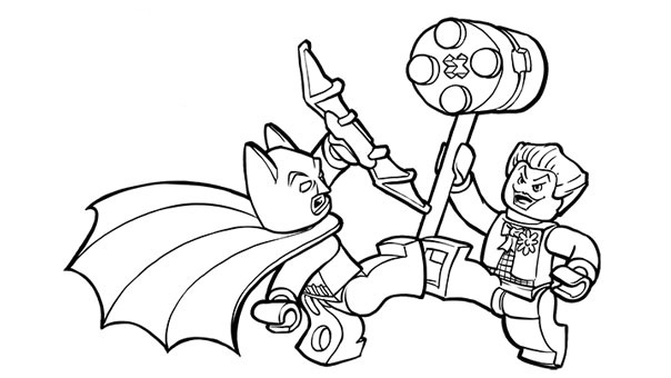 lego city coloring pages batman - photo#4