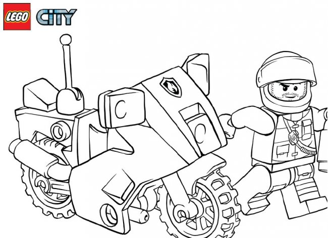 city police lego coloring pages - photo#10