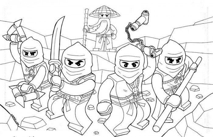all ninjago printable coloring pages - photo#39