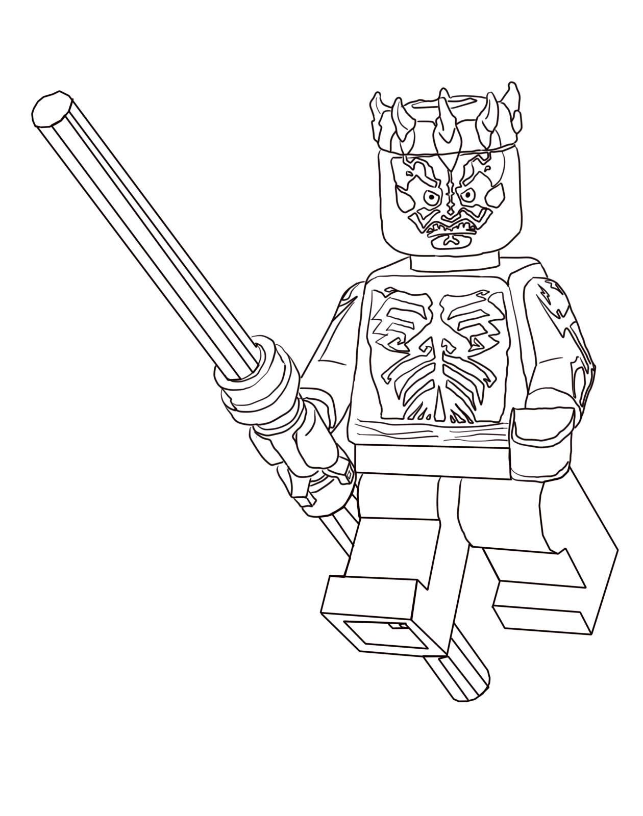 LEGO coloring pages with characters