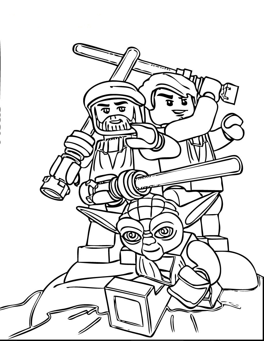 Malvorlagen Kostenlos Star Wars: LEGO Coloring Pages With Characters: Chima, Ninjago, City