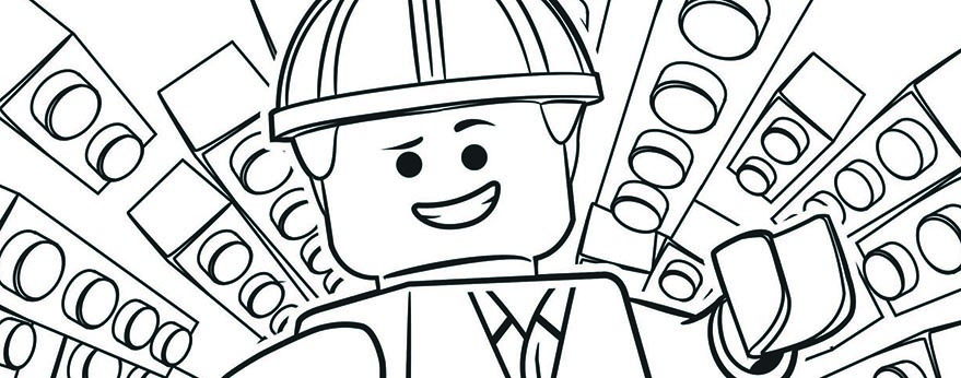 you can download these coloring pages from our website print them for free and entertain your child with cheerful creative activity - Lego Movie Coloring Page