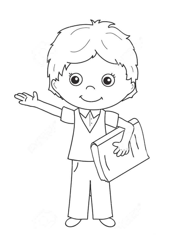 Boy coloring pages to download
