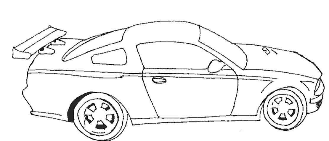 Racing cars coloring pages to download
