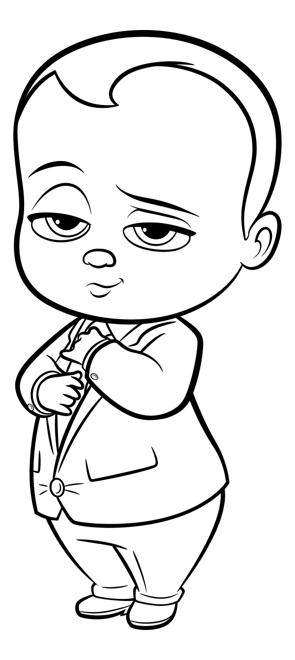 The Boss Baby coloring pages to download and print for free