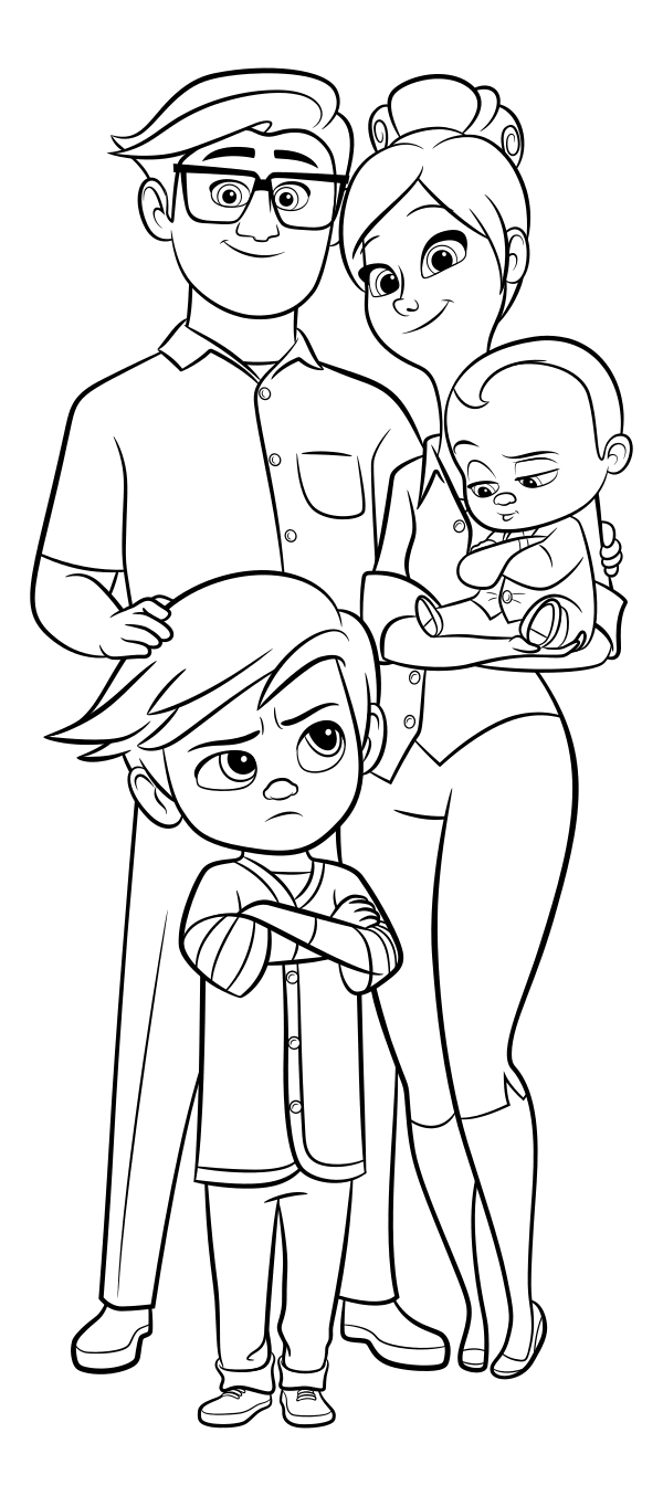 The Boss Baby coloring pages to