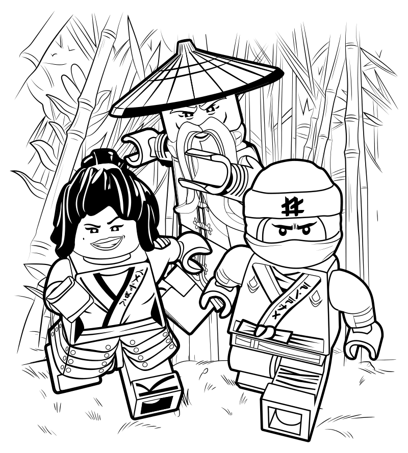 The lego Ninjago movie coloring pages to download and ...