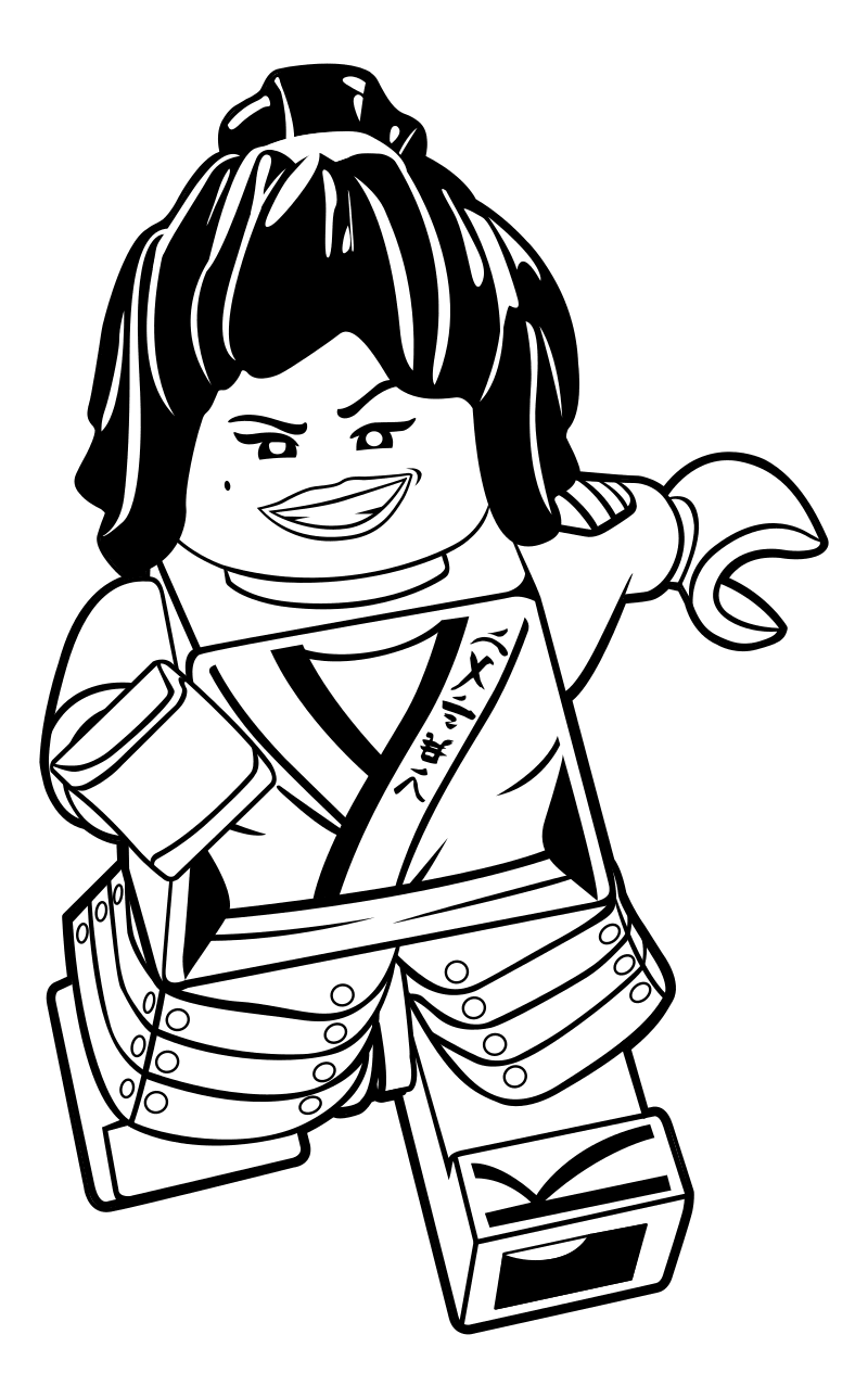 The lego Ninjago movie coloring