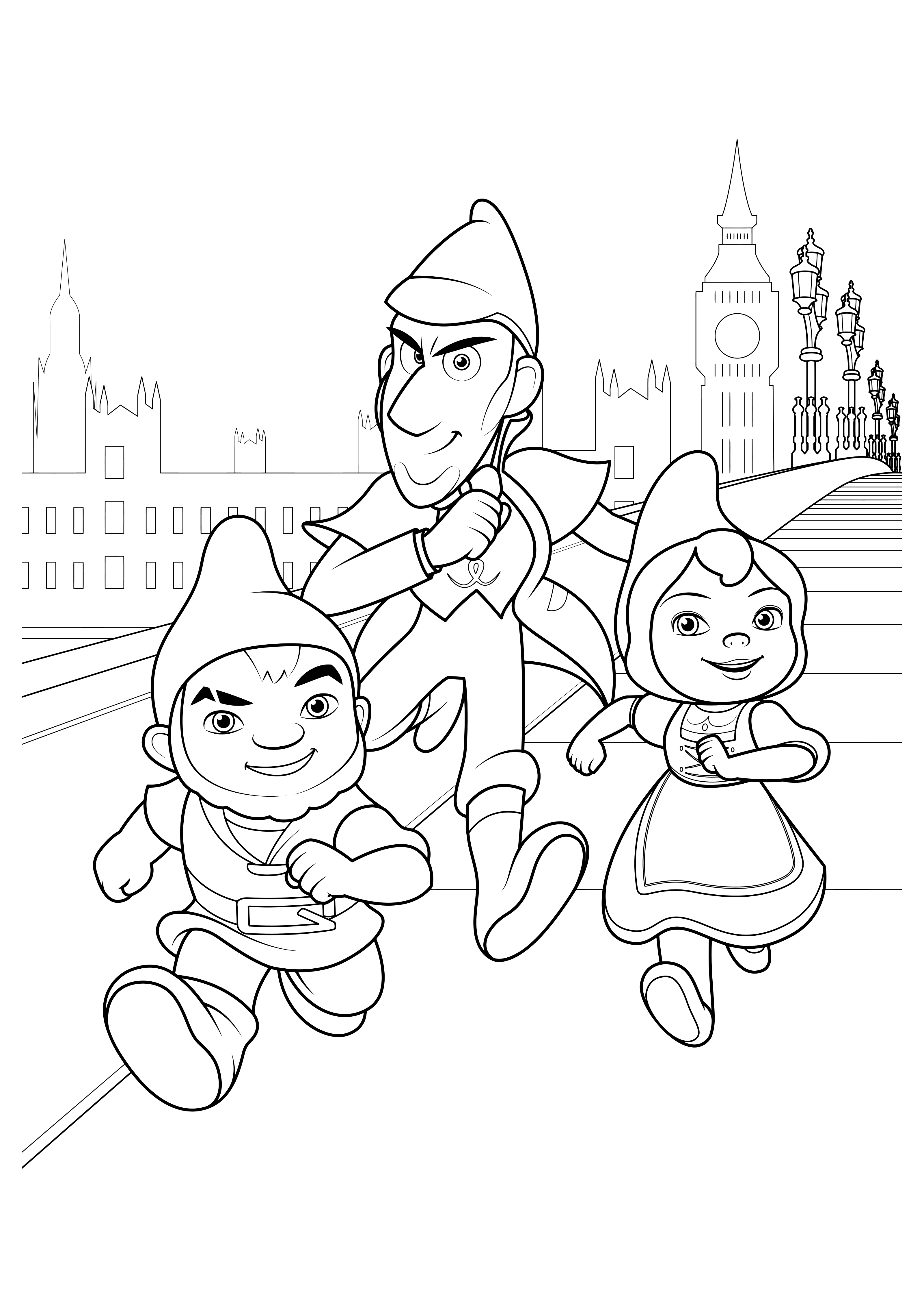 sherlock gnomes coloring pages to download and print for free