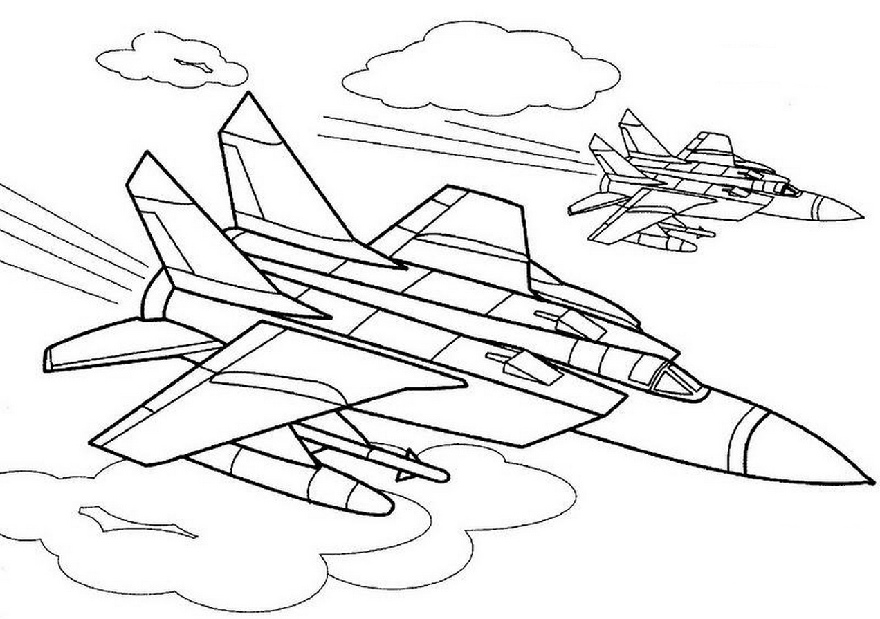 War Plane coloring pages to download