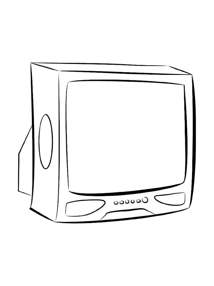 TV coloring pages to download and