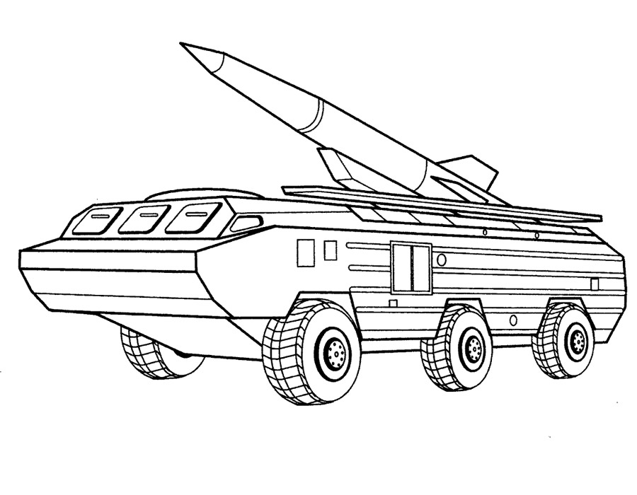 Army Vehicles coloring pages to