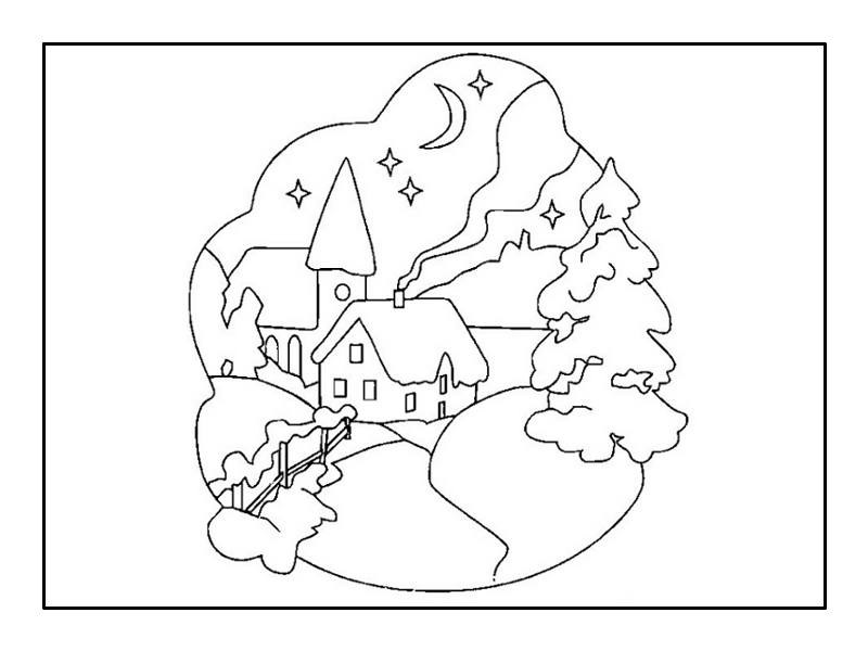 winter nature coloring pages | Winter landscape coloring pages to download and print for free