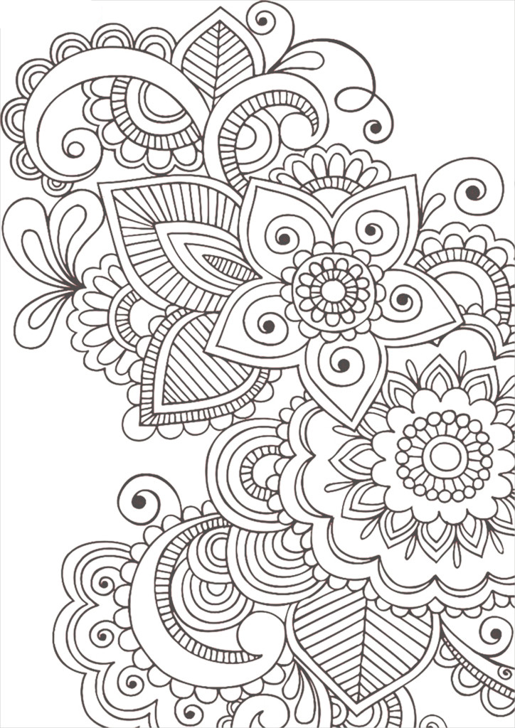 Coloring pages antistress for children to download and
