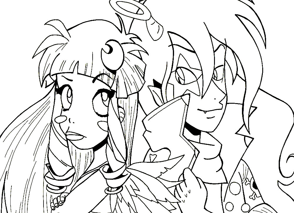 Angel S Friends Coloring Pages To Download And Print For Free