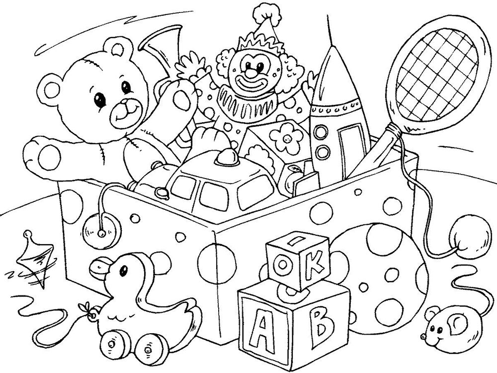 toy coloring pages | Toys coloring pages to download and print for free