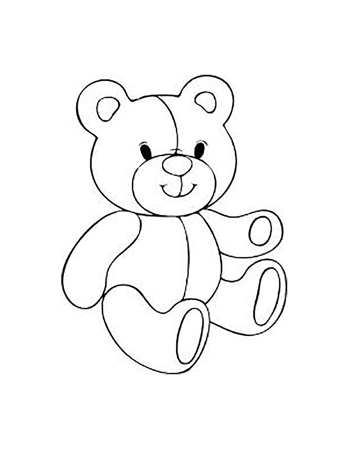 Раскраски игрушки для детей 3-4 лет